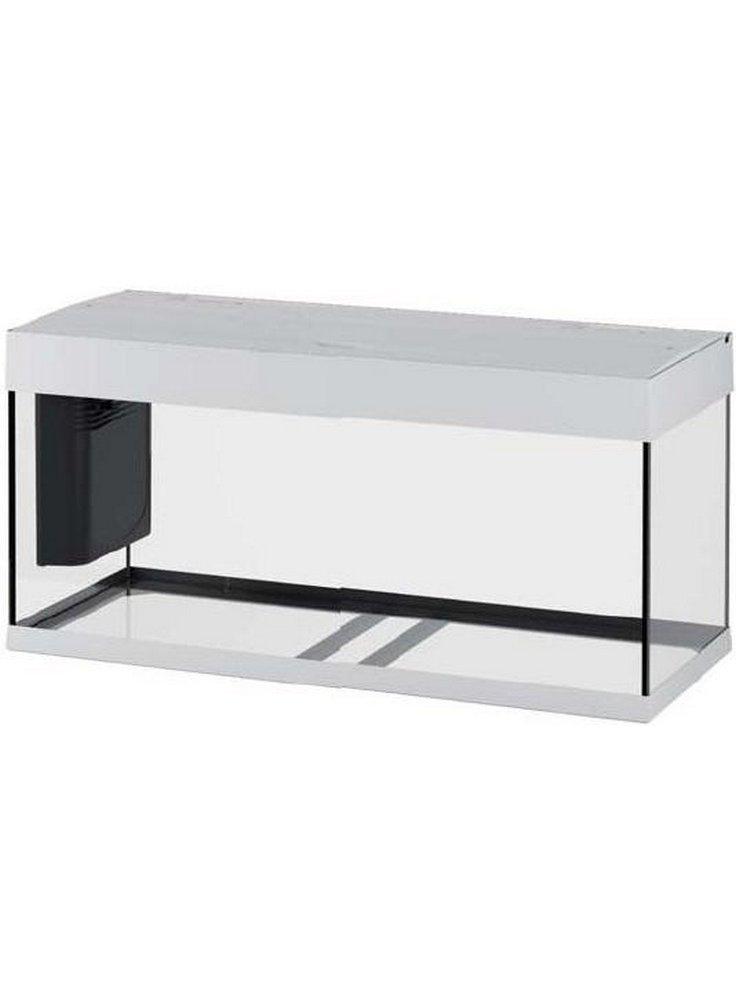Acquario ferplast dubai 100 nero bianco darkwood litri 190 for Acquario 100 litri