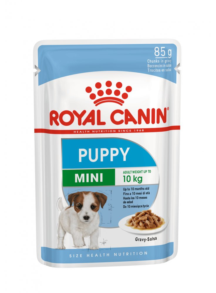 Mini puppy buste cane Royal Canin 85gr 3 + 1 omaggio