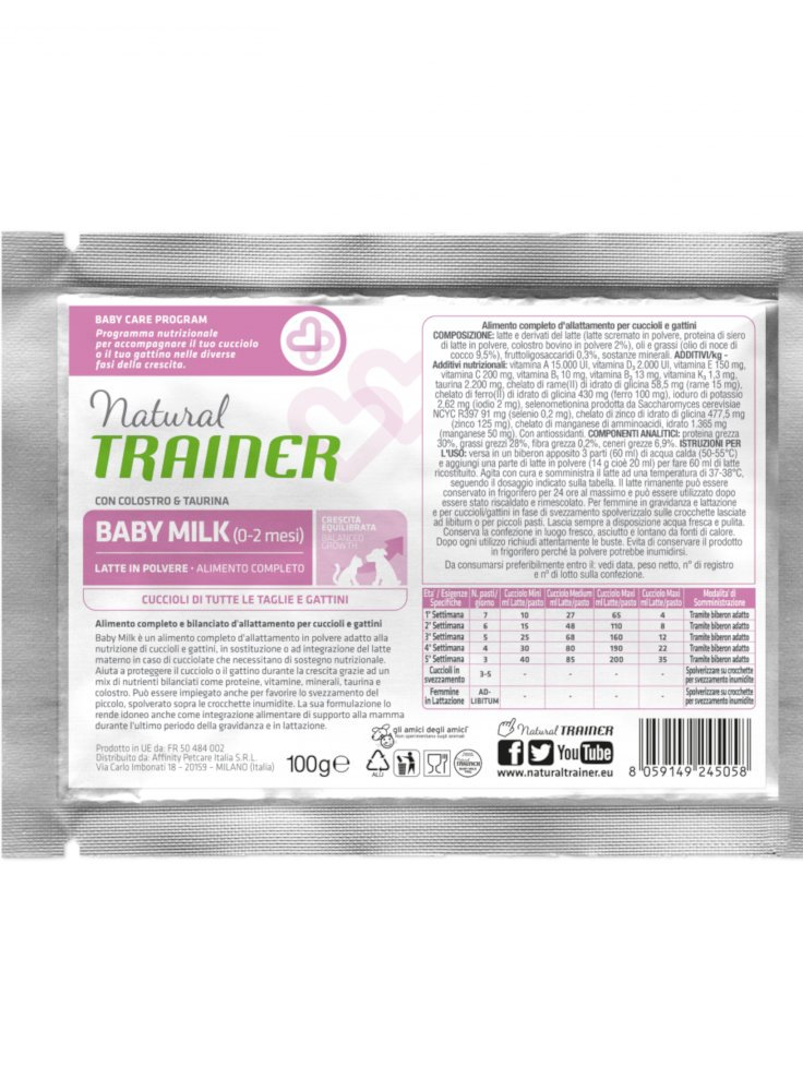 Trainer Kitten&Young Baby Milk 100g