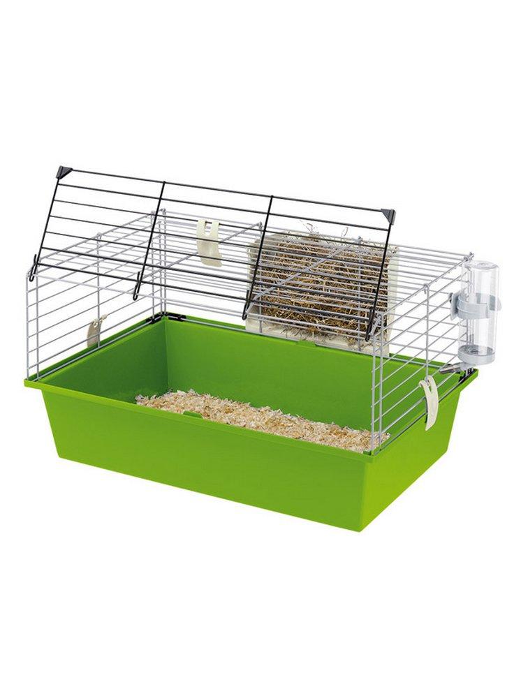 Gabbia cavie 60 per conigli nani e porcellini d'india 58 x 38 x h 31,5 cm