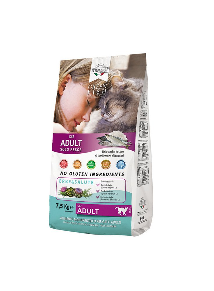 Cibo per gatti GREENFISH cat kg 7.5
