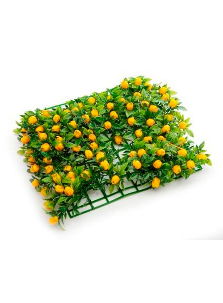 Tappeto erboso prato fiorito giallo 25x25cm