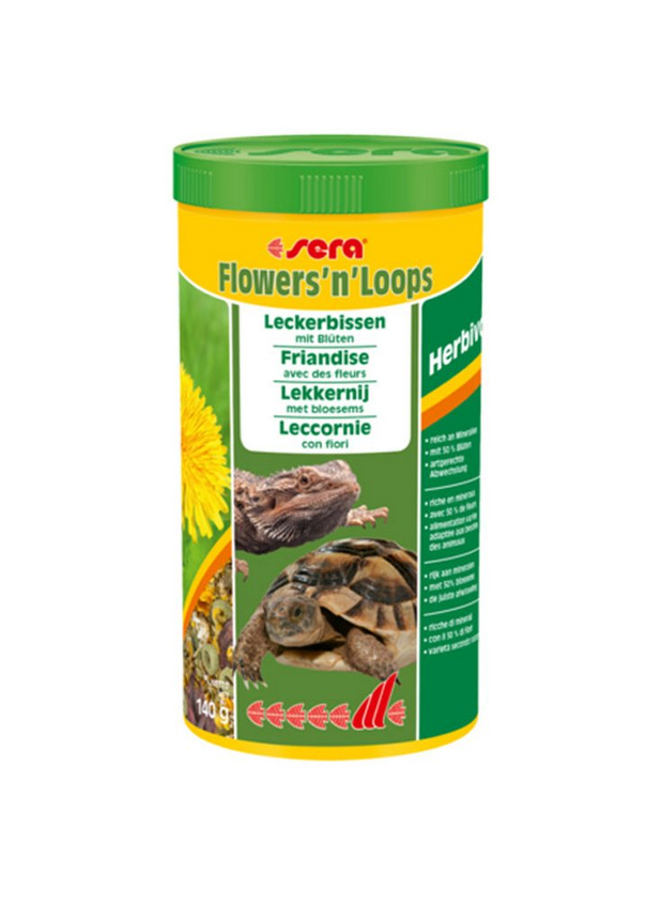 Mangime per Tartarughe di terra Iguana Pogona sera Flowers'n lops