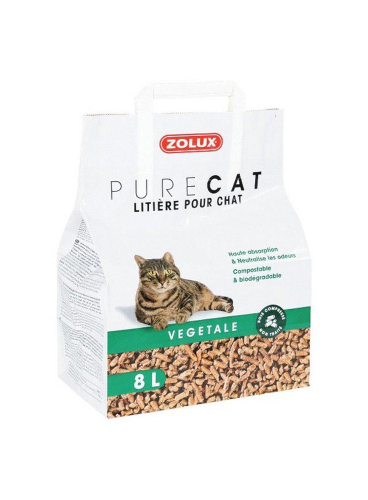 Zolux purecat sabbia biodegradabile per gatti 8 litri