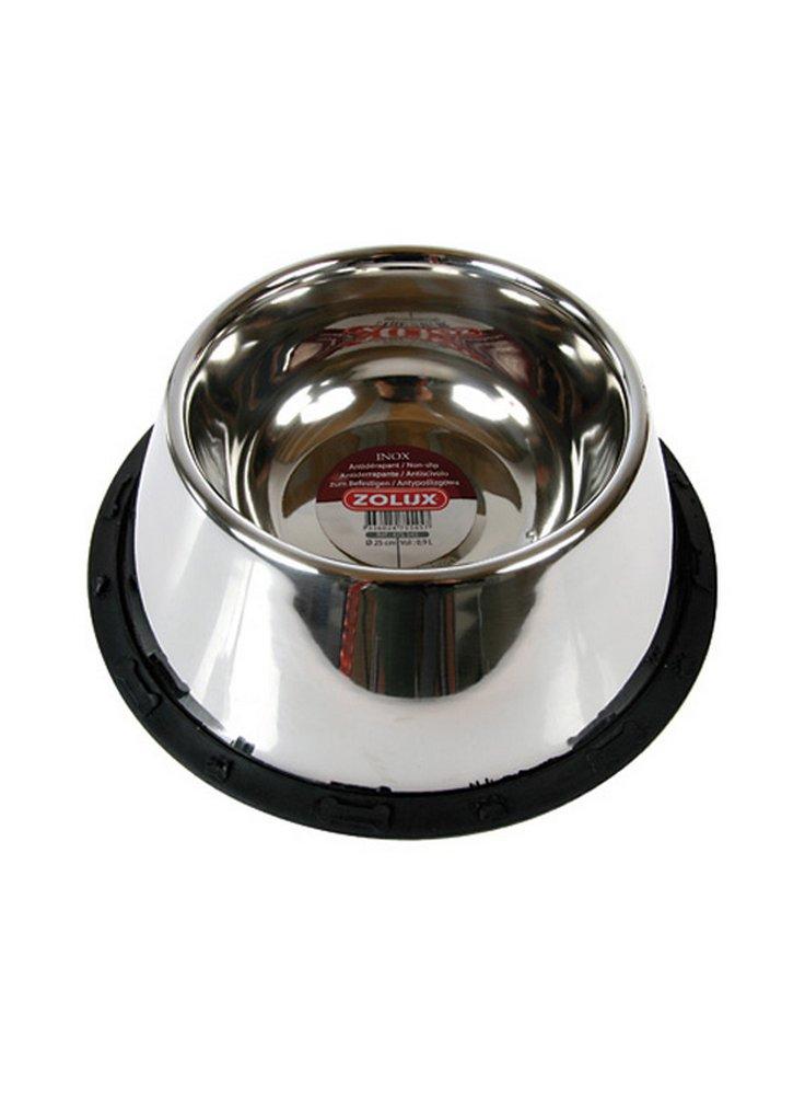 Ciotola acciaio antirovesciamento antiscivolo per cocker diam,25 zolux