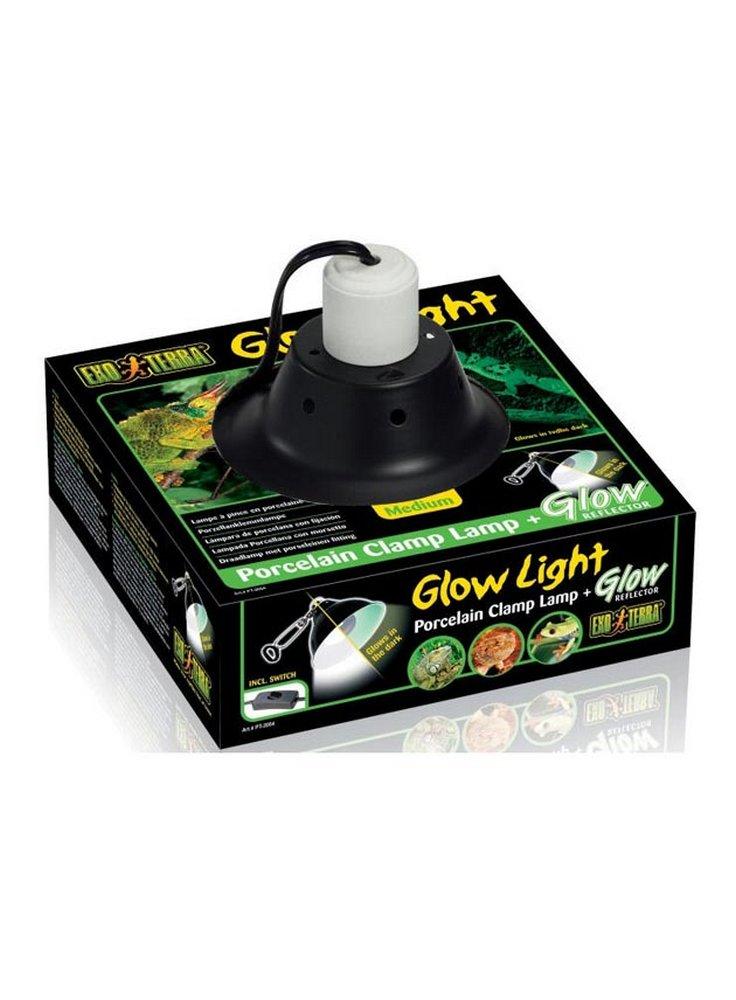 porta lampada con riflettore in porcellana Glow Light S cm 14