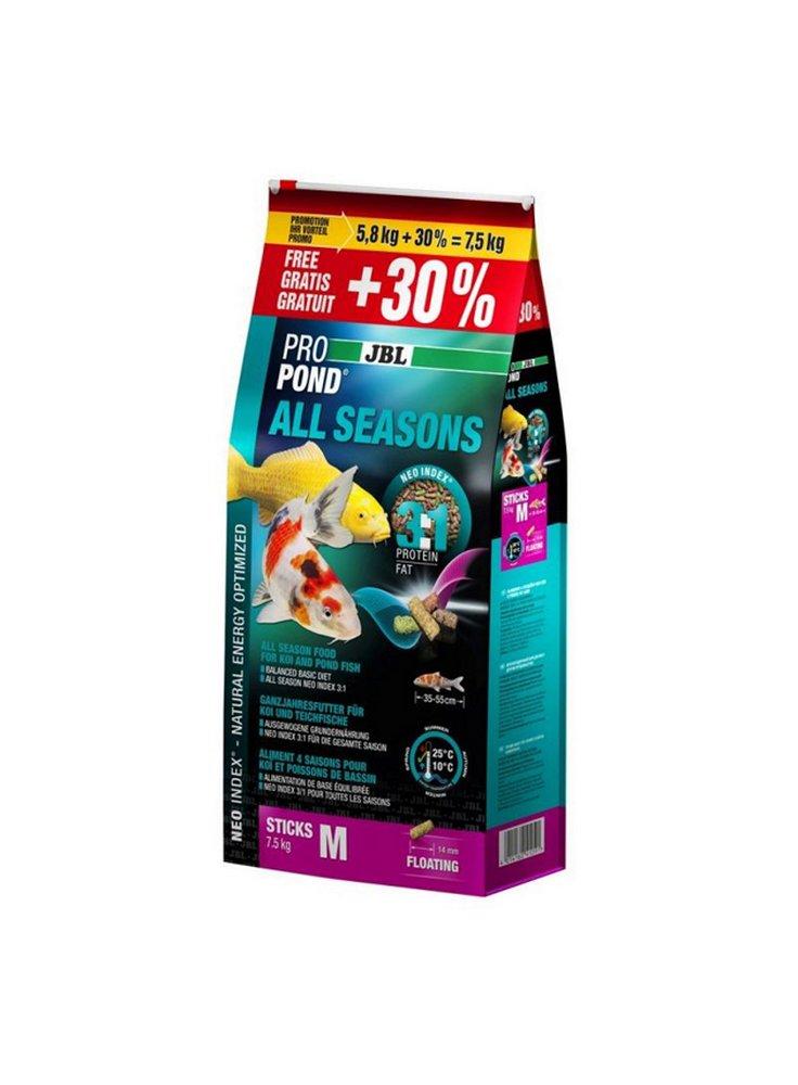 JBL PROPOND All Seasons M 40 litri mangime in pellets - 5,8kg + 30% omaggio