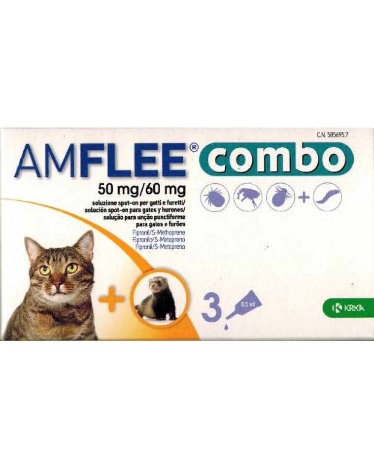 Amflee Combo gatto 50/60mg 3 pipette scadenza: 30/11/2021