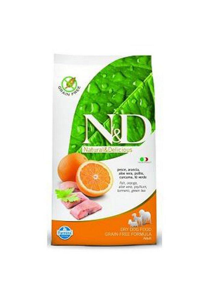 n&d Farmina Crocchette dog grain free prime medium-maxi aringa e arancia 12 kg