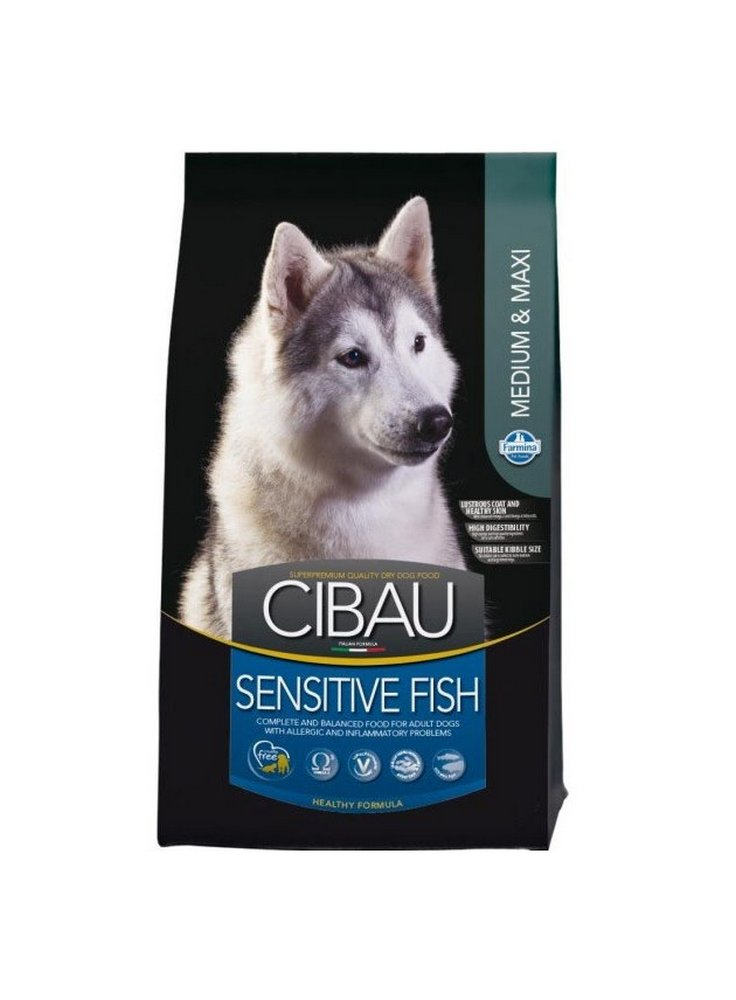 Cibau sensitive fish medium e maxi 12kg