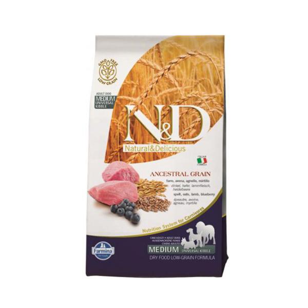 n&d Farmina Crocchette dog adult medium maxi Ancestral agnello e mirtillo 12kg