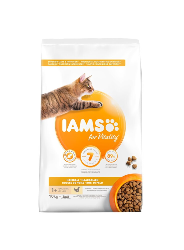 Iams Cat Hairball Control Adult All Breeds Chicken