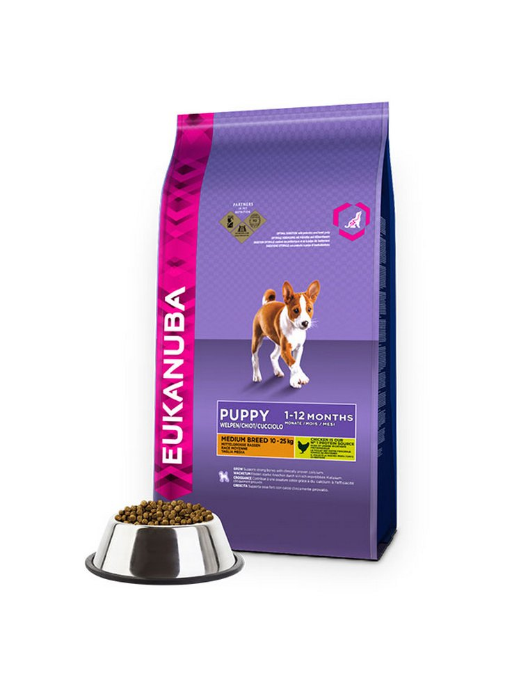 Eukanuba Dog Base Puppy Medium Breeds Chicken kg 12