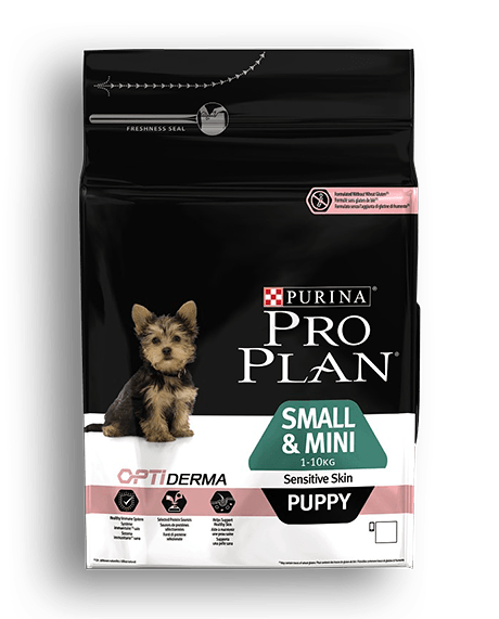 Purina Pro Plan Puppy Small e mini sensitive Skin Optiderma 3 kg
