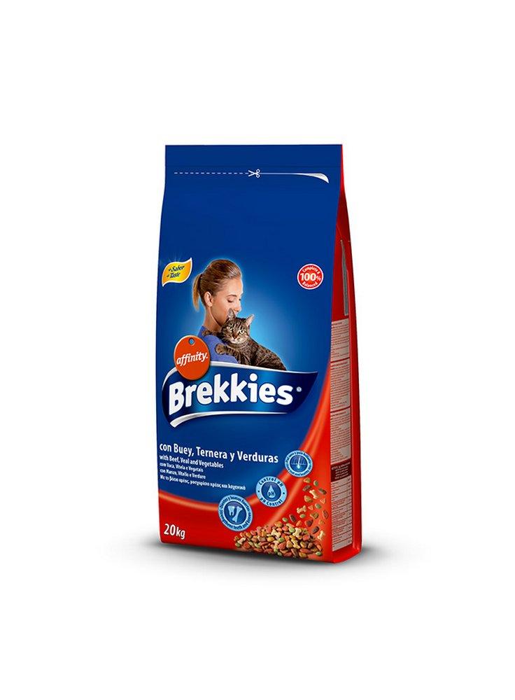 Affinity Brekkies alimento gatto manzo, vitello e verdure 15 Kg + gioco in omaggio