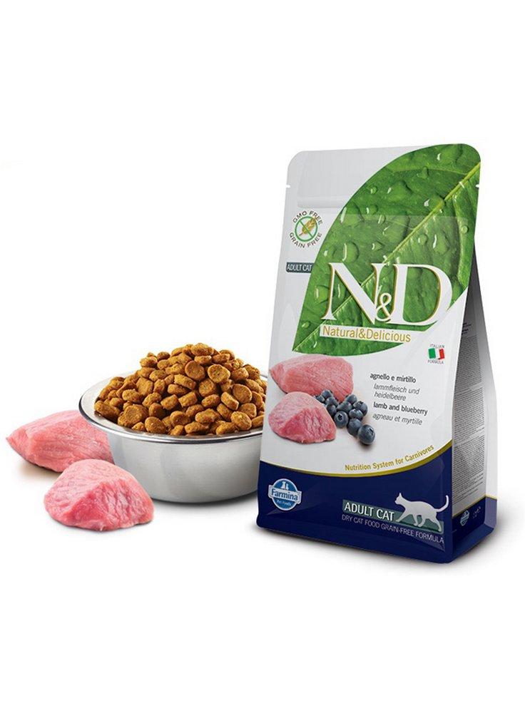 Farmina N&D gatto grain free agnello e mirtillo 5 Kg