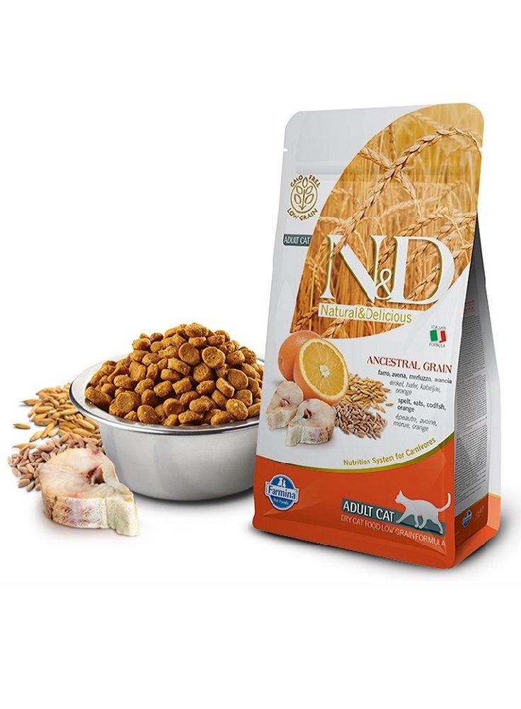 Farmina N&D gatto Ancestral ocean aringa arancia 5Kg