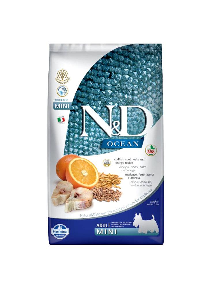 n&d Farmina Crocchette dog adult medium Ancestral ocean merluzzo e arancia 12kg