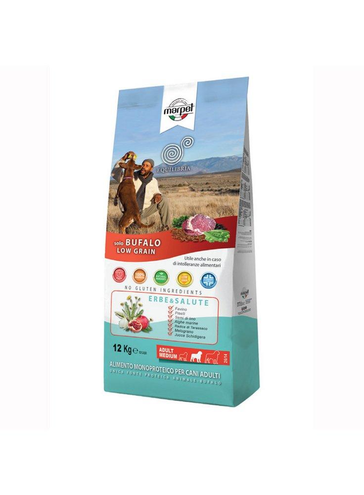 Cibo per cani Equilibria LOW GRAIN medium monoproteico Bufalo 12KG