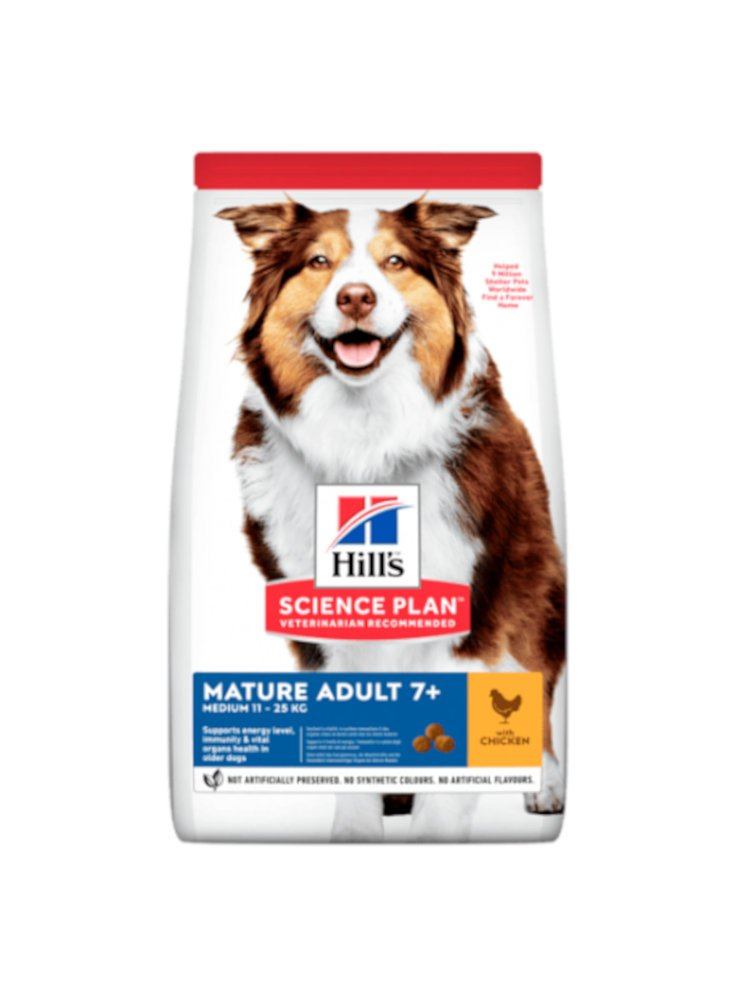 HILL'S Science Plan Canine Mature Medium Pollo 12Kg + 2kg omaggio