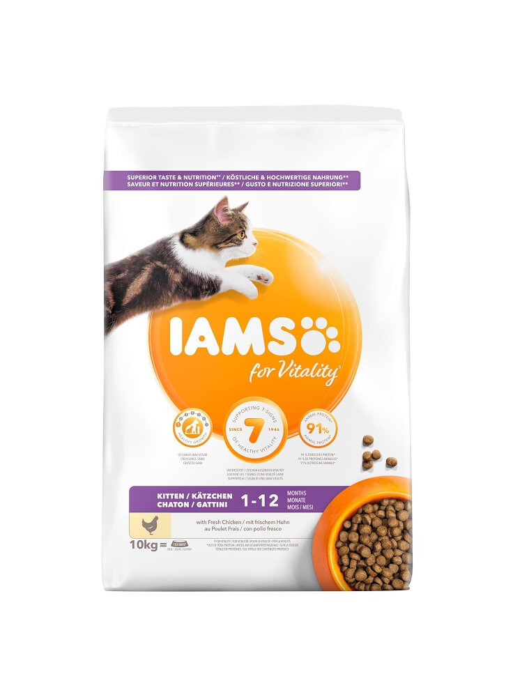 Iams Cat Base Kitten All Breeds Pollo