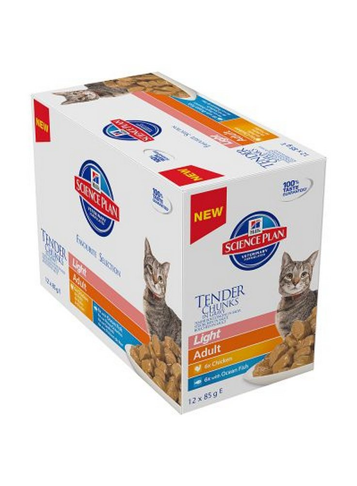 Hill's Feline Umido Bustine 12x85 gr Adult light