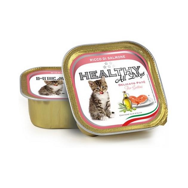 VBB Cat Kitten Healthy All Days vaschette 12x100 gr Salmone
