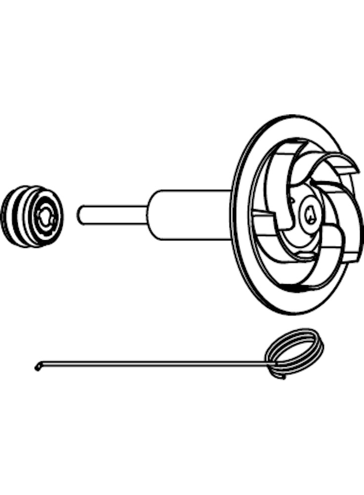 Sicce Ricambio EKO POWER Rotore con alberino in ceramica + boccole + uncino