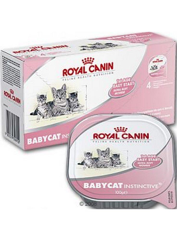Cibo Umido per Gatto BABYCAT INSTINCTIVE [10] 4x100gr (Vachette) Royal Canin