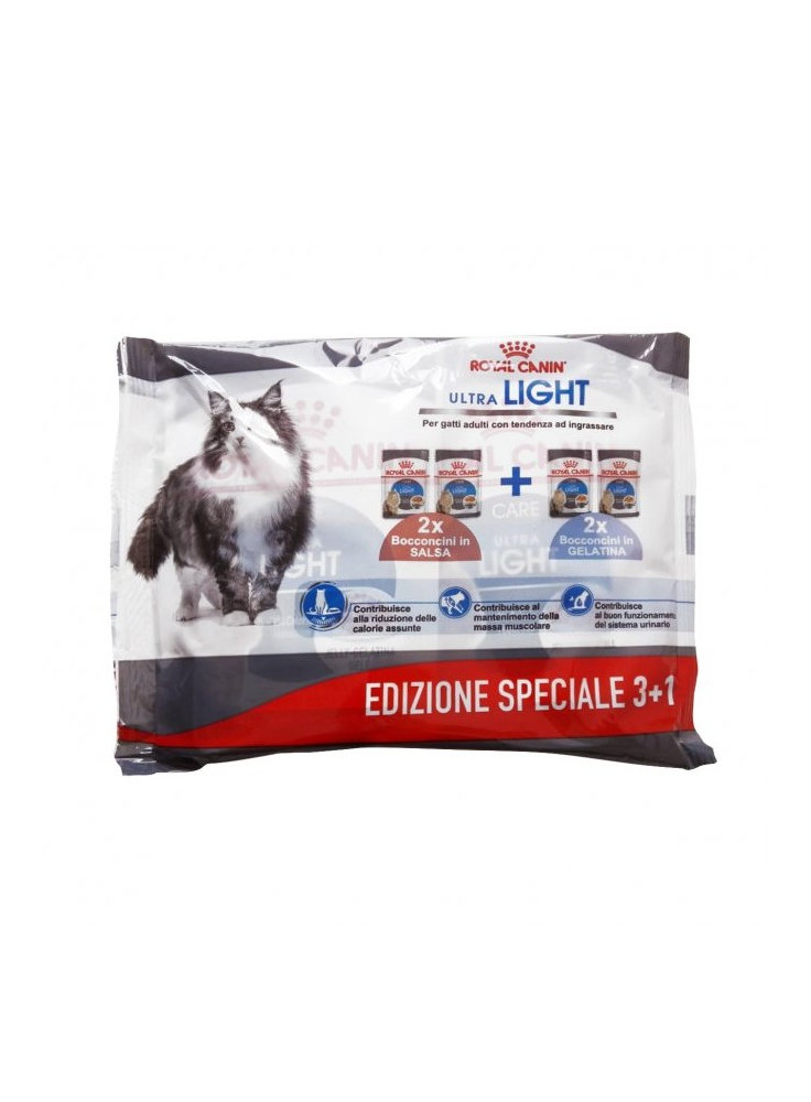 Royal Canin gatto ultra light multipack 3+1 buste da 85gr