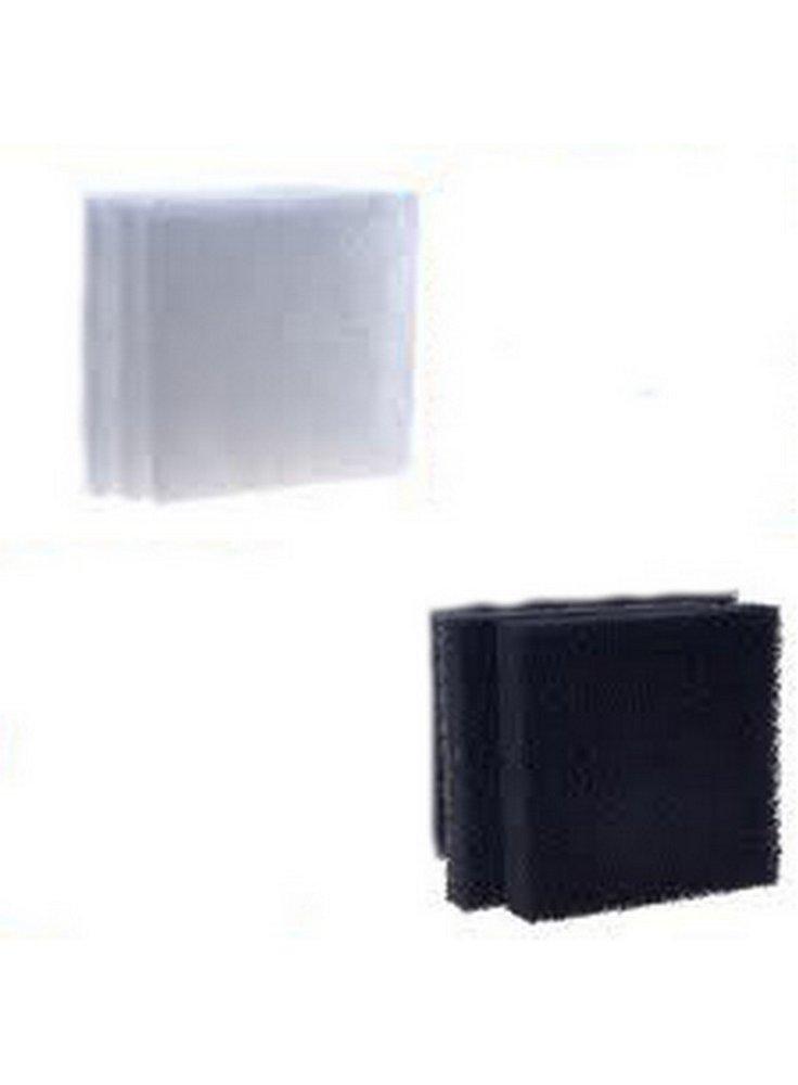 Kit azoo 2x lana filtrante + 2x carbone attivo 8x8x2,5 (filter sponge 1200/1800)