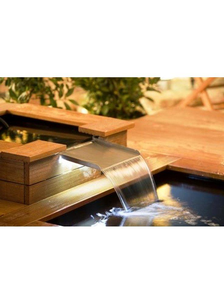 Kit cascata con luce led per vasca rettangolare cm 30 heissner for Acquari completi offerte