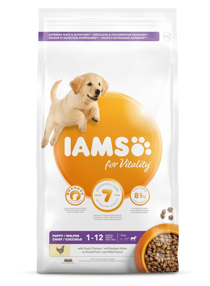 Iams Dog Base Puppy Large Breeds Chicken