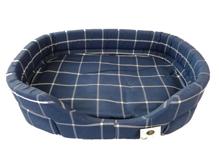 Cuccia scozzese classica per cani blu misura 1