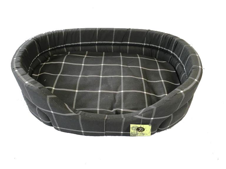 Cuccia scozzese classica per cani nera misura 4