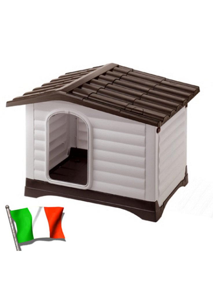 Cuccia da esterno per Cani con Apertura Laterale DOGVILLA 90 (88x72x65 cm)