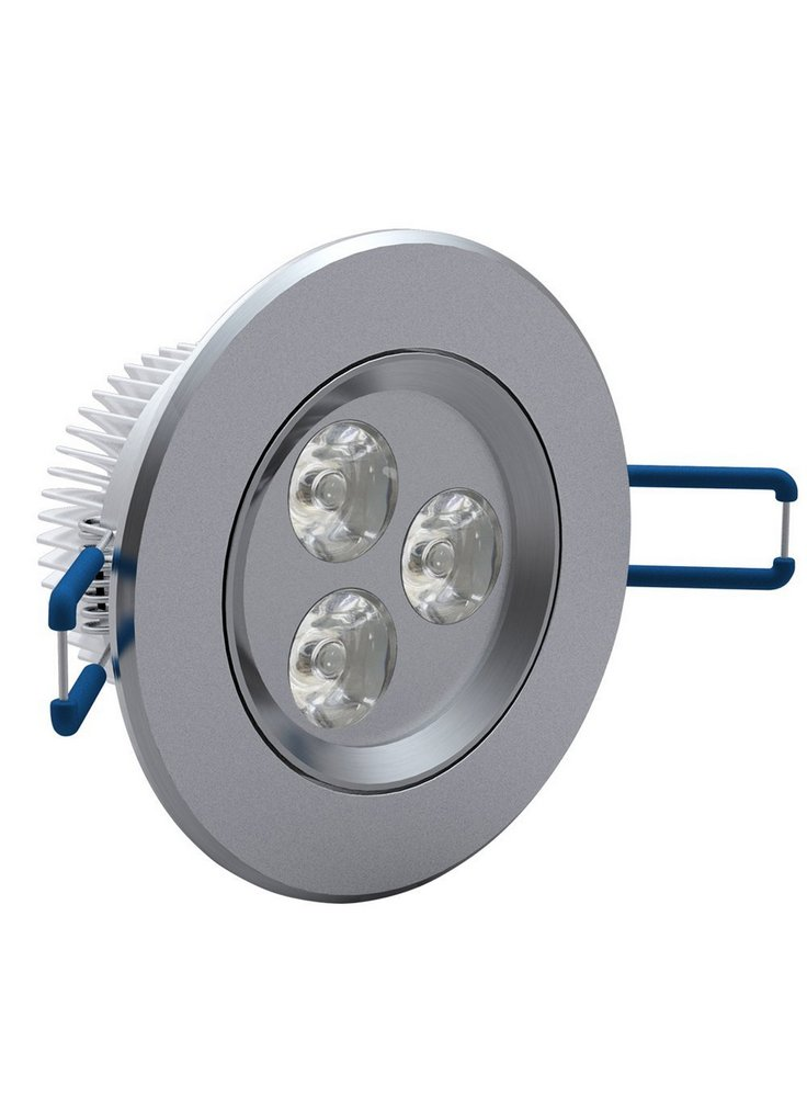 Faretto a led da incasso 3x1w 220v petingros for Lampada per faretto a led