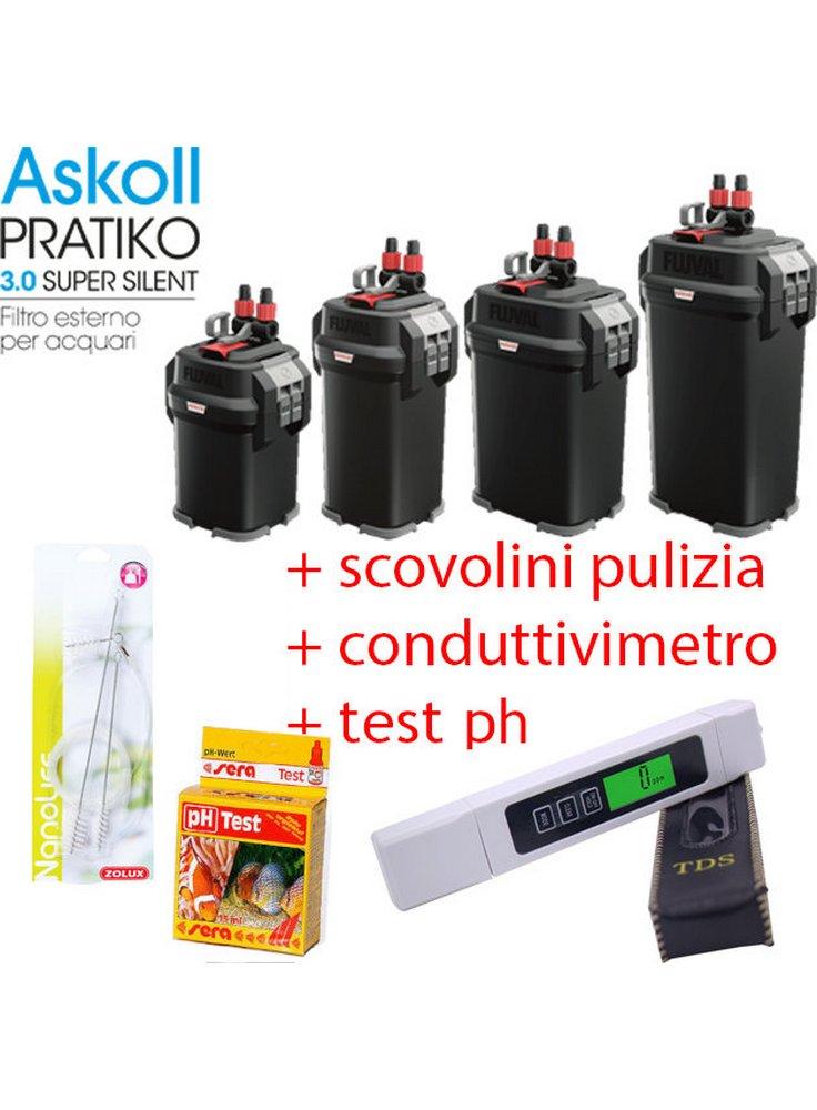 Filtro esterno pratiko super silent 100 200 300 400 + 40€ prodotti omaggio