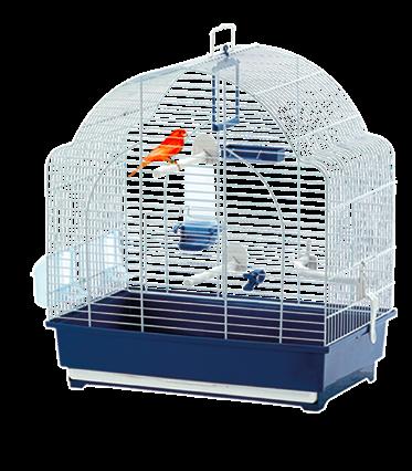 Marchioro Gabbia per uccelli Spyros 42/52 blu/marrone
