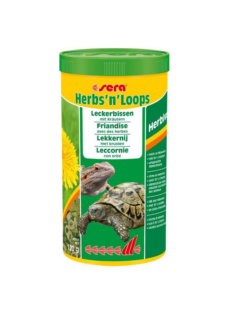 Mangime per Tartarughe di terra Iguana Pogona sera Herbs'n lops