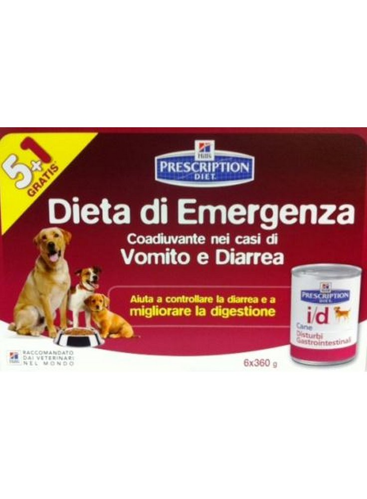 Hill's canine I/D 360 gr umido Confezione Multipack 5+1