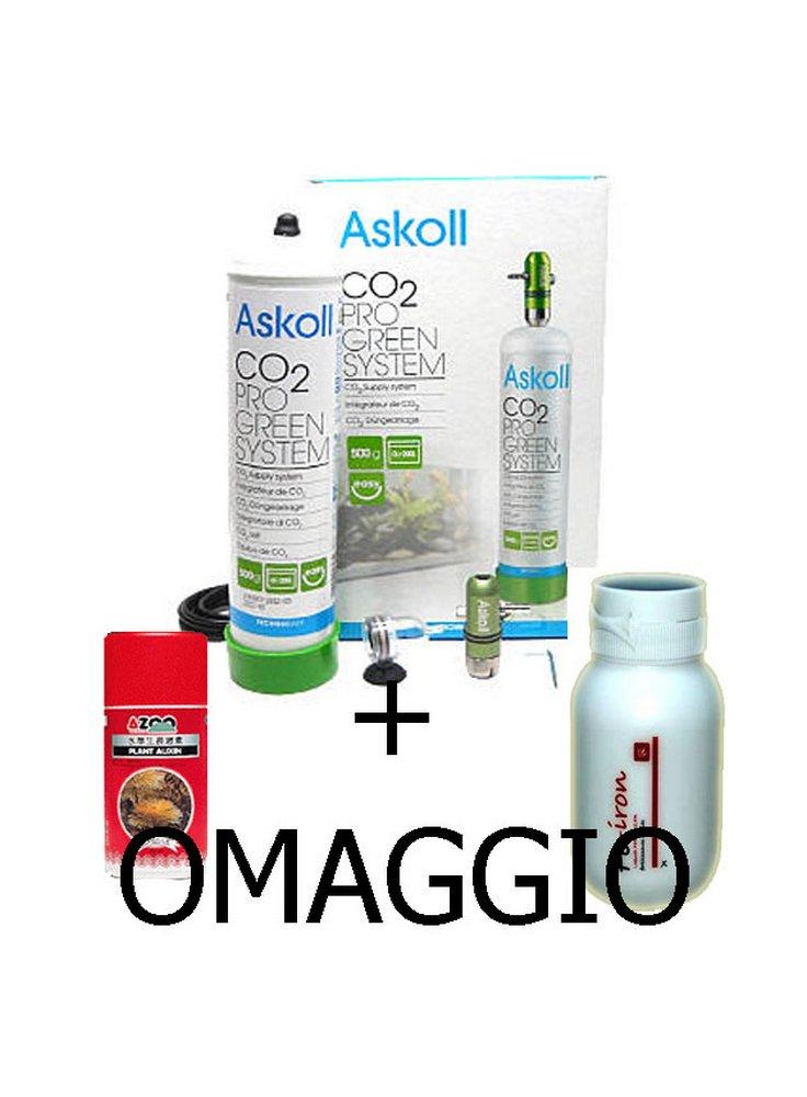 Impianto co2 askoll system pro green per acquari askoll for Acquari completi offerte