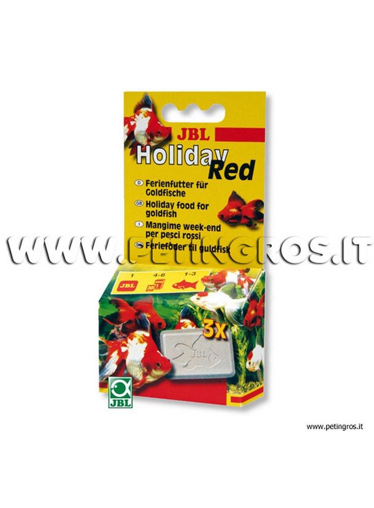 JBL HOLIDAY RED cibo lento rilascio pesci rossi 3 cubi da 20 g