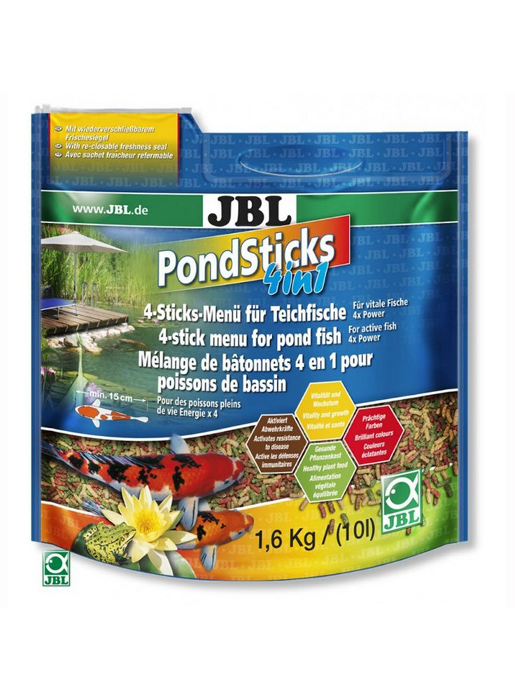 JBL Pond Sticks MENU 4 in 1 mangime in pellets da 10 l