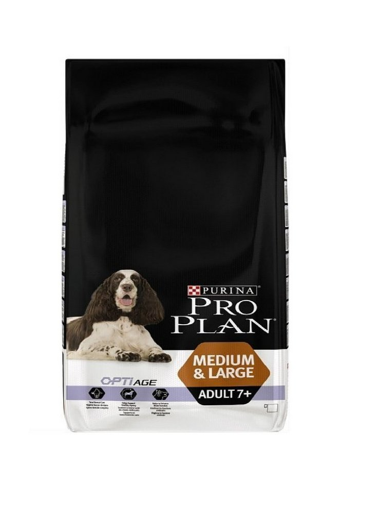 Purina Pro Plan Medium large Adult 7+ Pollo e riso 3 e 14 kg