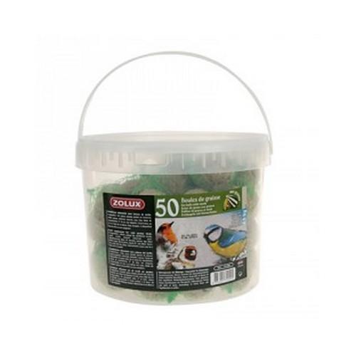Palle di grasso per uccelli selvatici secchio 50 pz