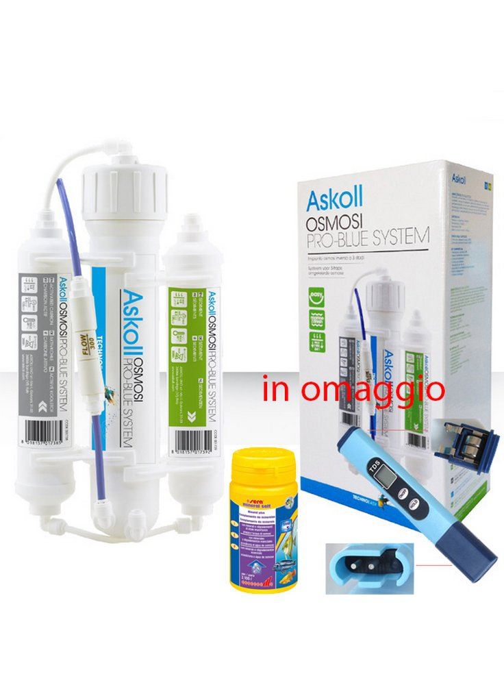 Askoll impianto osmosi inversa a 3 stadi
