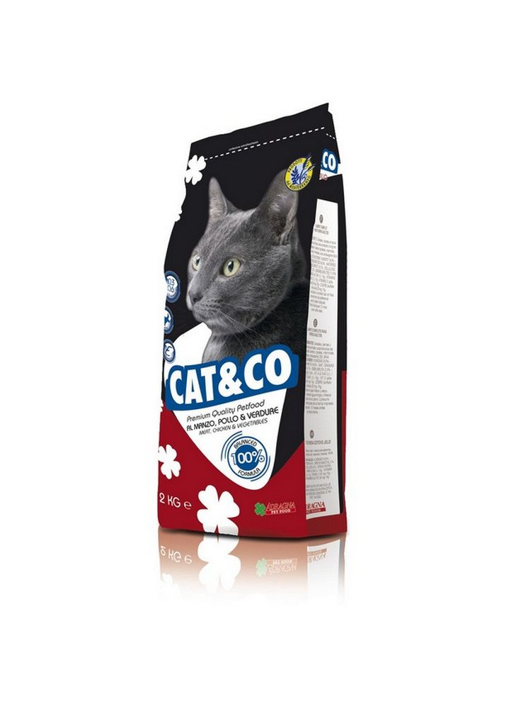 Cat & co Adult gatto kg 2 manzo pollo e verdure