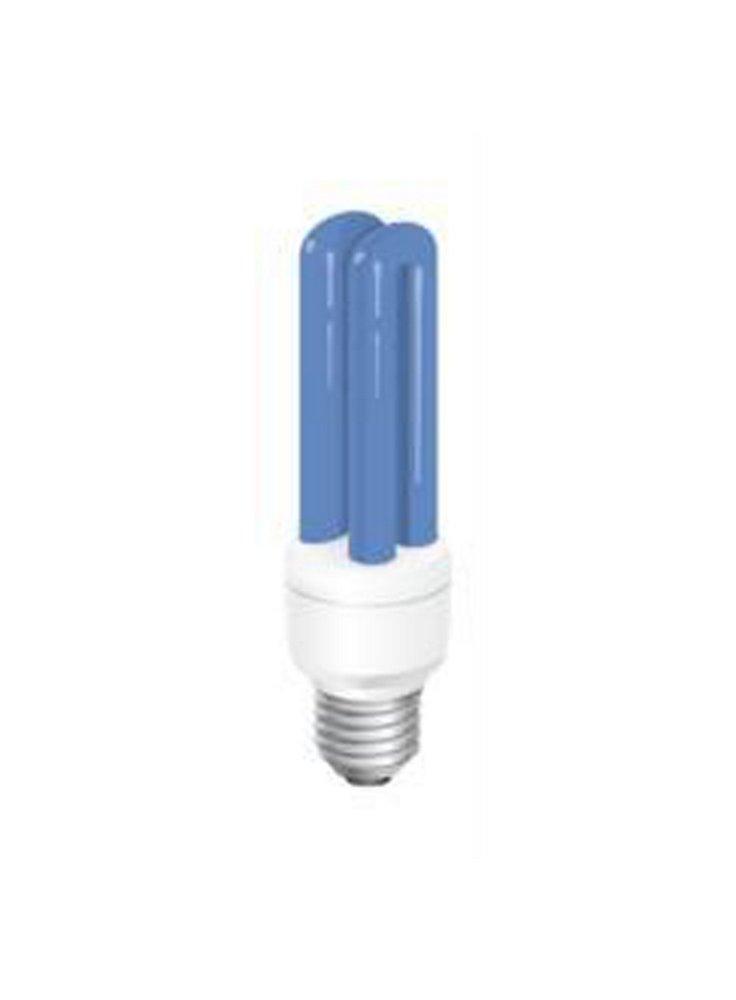 Lampada energy saving Moonshine blu 25.000 k attacco E27