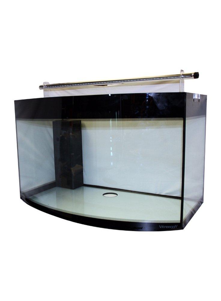 Acquario Vitrea open 170 litri vetro curvo led con allestimento dolce